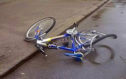 Водитель иномарки наехал на ребенка-велосипедиста возле горисполкома