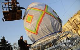 В Кривом Роге устанавливают 6-метровое пасхальное яйцо (ФОТО)