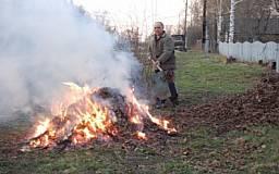 Криворожские коммунальщики решали как бороться со сжиганием опавших листьев