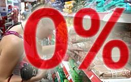 В октябре зафиксирован нулевой уровень инфляции