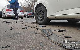 В Кривом Роге столкнулись 4 автомобиля