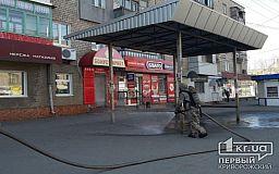 В Кривом Роге дезинфицируют остановки и тротуары