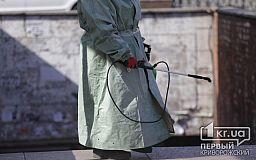 Улицу, на которой живет криворожанка, инфицированная коронавирусом, продезинфицировали