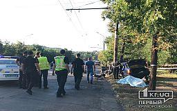 В Кривом Роге автомобиль врезался в столб, погиб человек