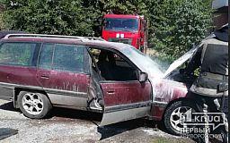 В Кривом Роге горело легковое авто
