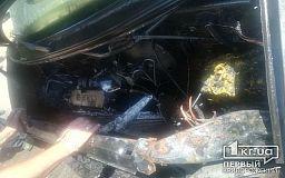 В Кривом Роге на ходу загорелся микроавтобус