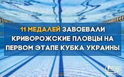 Пятеро пловцов из Кривого Рога завоевали 11 медалей на первом этапе Кубка Украины