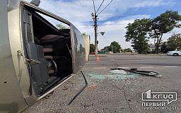 В Кривом Роге перевернулась Lada, пострадал человек (фото)