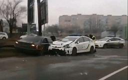 В Кривом Роге авто полиции и легковушка попали в ДТП