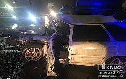 ВАЗ, Nissan и Volvo столкнулись ночью в Кривом Роге