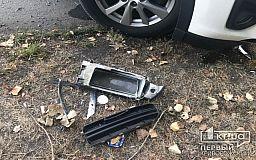 После ДТП на авто рухнул столб, пострадал криворожанин