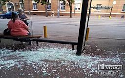 В Кривом Роге вандалы разгромили новую остановку общественного транспорта