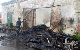 Криворожские спасатели два часа тушили пылающее заброшенное здание