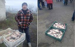 Правоохранители оштрафовали двоих криворожан, торговавших рыбой на рынке без документов