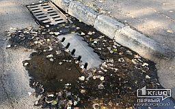 В Кривом Роге дорожная служба очистила ливневки на центральных улицах