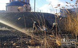 В Кривом Роге тушили пожар возле церкви