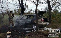 В Кривом Роге авто загорелось после ДТП