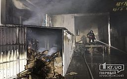 В Кривом Роге случился масштабный пожар в супермаркете