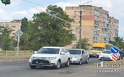 На дороге с односторонним движением в Кривом Роге случилась авария