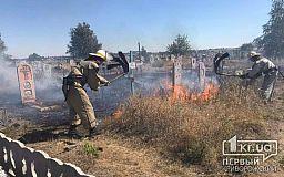 В Пятихатках на кладбище случился пожар