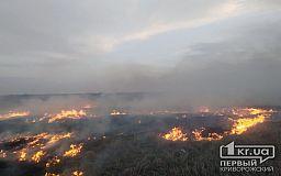 В Софиевском районе спасатели тушили пожар на открытой территории