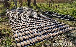 В Кривом Роге задержал мужчину, который незаконно выловил около 190 килограмм рыбы