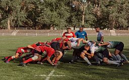 Криворожские регбисты сыграли первый в 2020 году матч в Высшей лиге чемпионата Украины