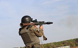 Криворожские гвардейцы проводили спецсборы военнослужащих с пулеметными и гранатометными расчетами