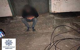 Криворожские копы на горячем поймали нарушителей, которые пытались украсть медный кабель
