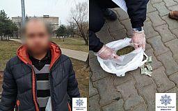 В Кривом Роге с пакетом «марьиванны» задержали парня