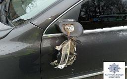 В Кривом Роге водитель спешил доставить товар и задел припаркованное авто