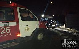 Криворожские спасатели помогли карете скорой помощи, которая застряла в грязи