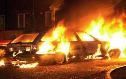 В Кривом Роге на временной стоянке загорелся автомобиль