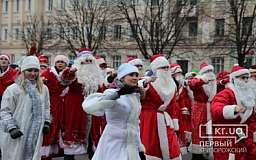 В Кривом Роге прошел парад Дедов Морозов
