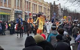 Празднование «Масленицы» на проспекте Карла Маркса (ФОТО)
