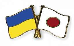 Японцы надели кимоно цвета украинского флага