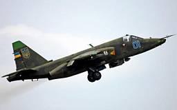 В Днепропетровске разбился военный штурмовик Су-25