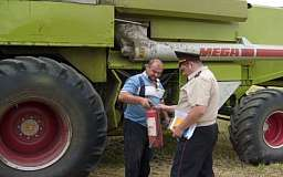 В Криворожском районе проведен рейд по безопасности при сборе урожая