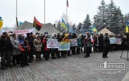 Под стенами горсовета протестовали студенты экономического института