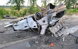 Страшное ДТП произошло на въезде в Кривой Рог: уснувший за рулем водитель врезался в блокпост и взорвался (ОБНОВЛЕНО)