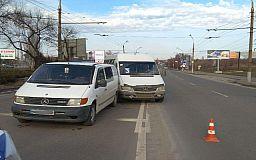 В Кривом Роге ДТП с маршруткой и микроавтобусом закончилось европротоколом