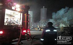 Масштабный пожар на складе лесоматериалов в Кривом Роге