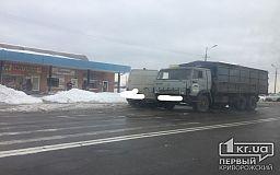 В Кривом Роге столкнулись два грузовых авто