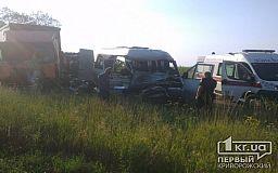 В результате лобового столкновения маршрутки и грузовика на трассе под Днепром погибли  два человека