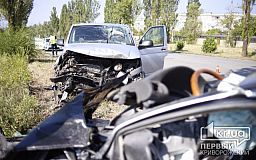 Во время лобового столкновения авто в Кривом Роге пострадали люди