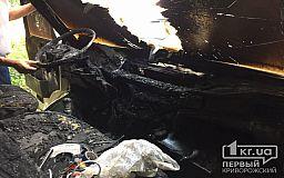 На территории хлебокомбината в Кривом Роге сгорел микробус