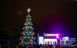 В Кривом Роге стартовали празднования на главной новогодней площади