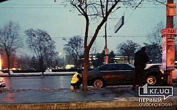 В Кривом Роге BMW въехал в столб