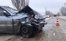 На объездной дороге в Кривом Роге столкнулись два автомобиля