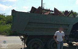 Криворожанина с полным кузовом незаконного металлолома задержали патрульные